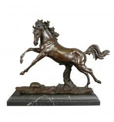 Horse - bronze statue