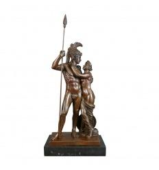 Statua in bronzo di marzo e Venere