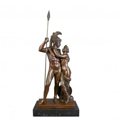 Statua in bronzo di Marte e di Venere - Sculture mitologiche -