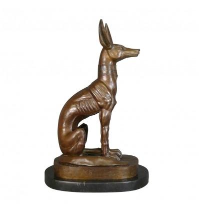 Statue en bronze du dieu Anubis - Mythologie Egypte -