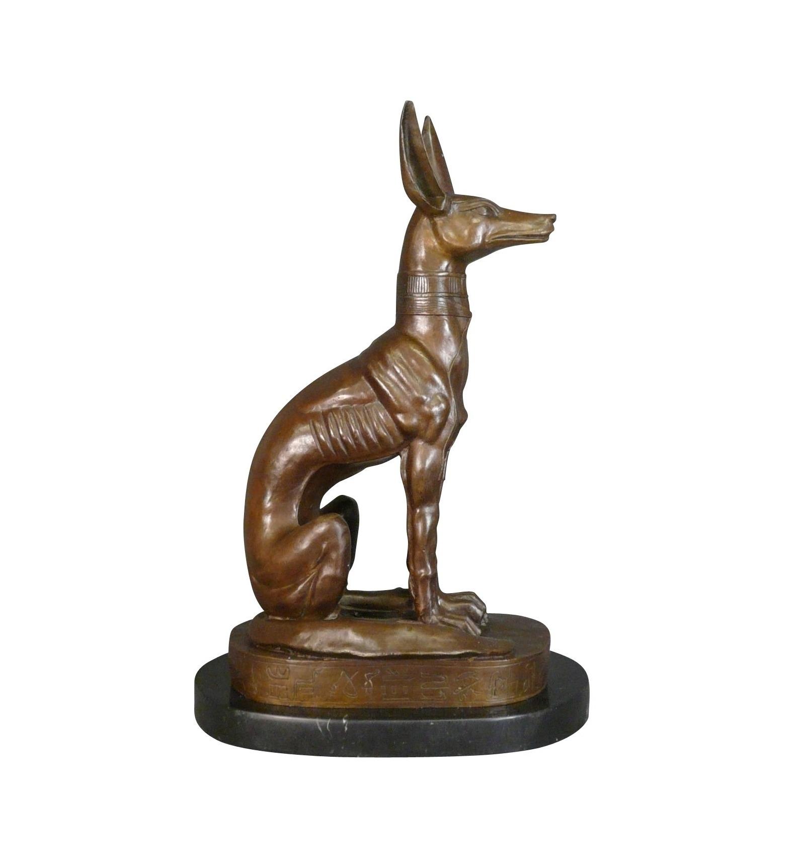 A Bronze Statue Of The God Anubis Mythology Egypt
