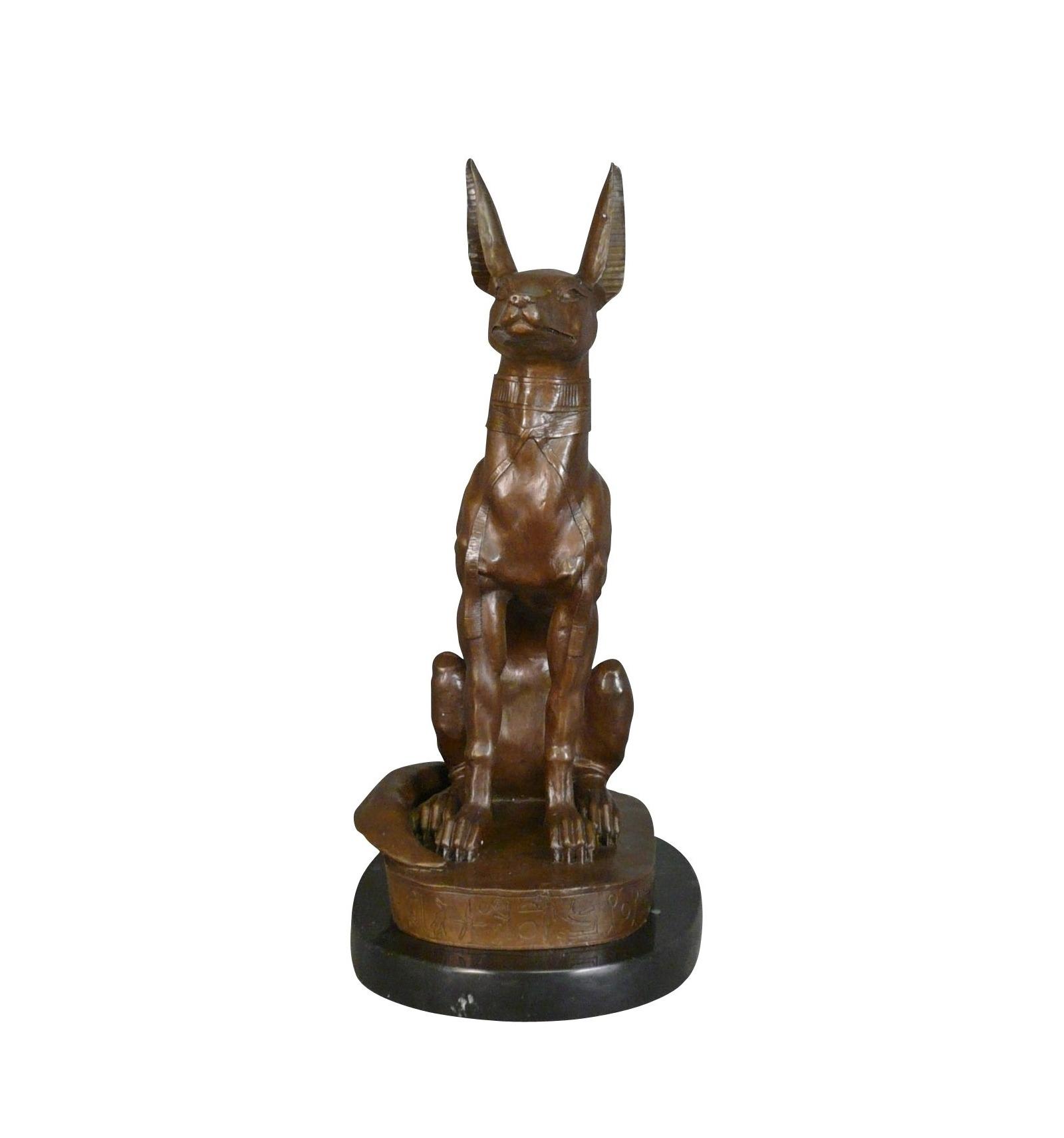 The God Anubis Egypt Mythology Bronze Statue