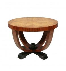 Art Deco-Tischplatte aus Ulmenholz