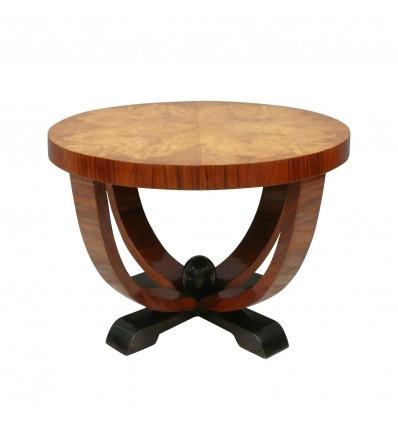 Deco stůl na lupy zaokrouhlit Elm