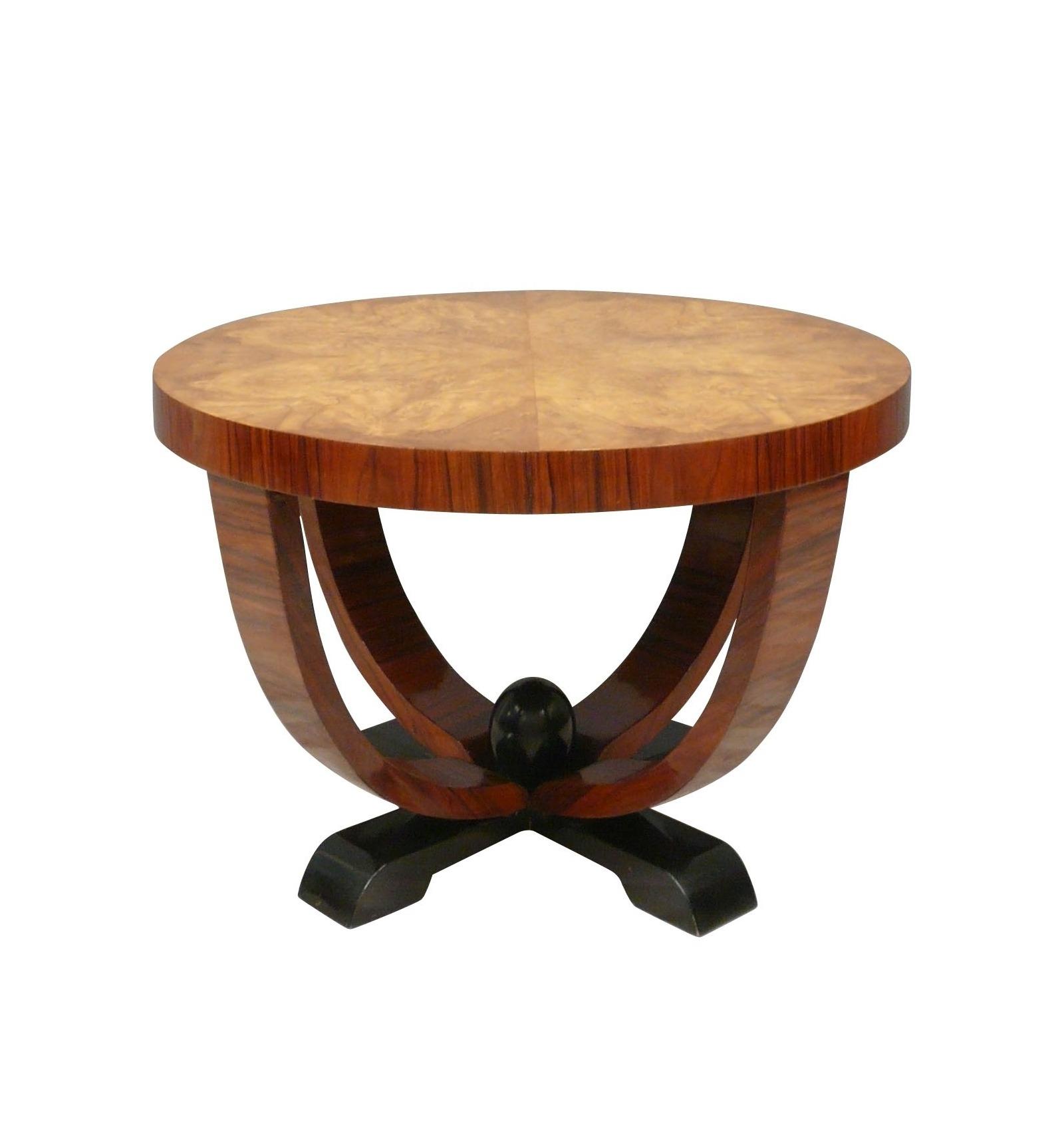 Tavolo Pranzo Art Deco tavolo art deco top da lente d'ingrandimento dell'olmo