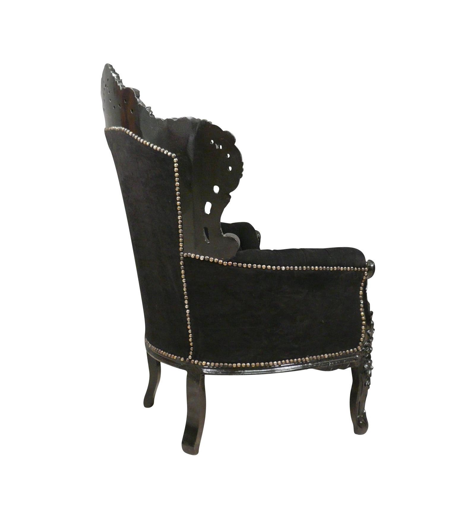 Barock Sessel schwarz Möbel und Barock Stühle