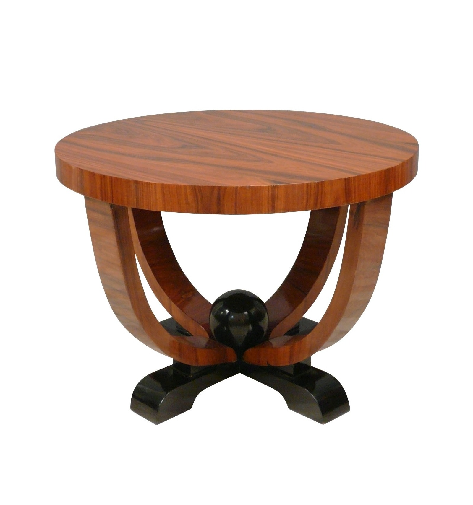 Table basse art d co ronde mobilier de style - Deco pour table basse ...