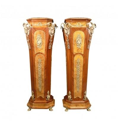 Paire de colonnes de style retour d'Egypte