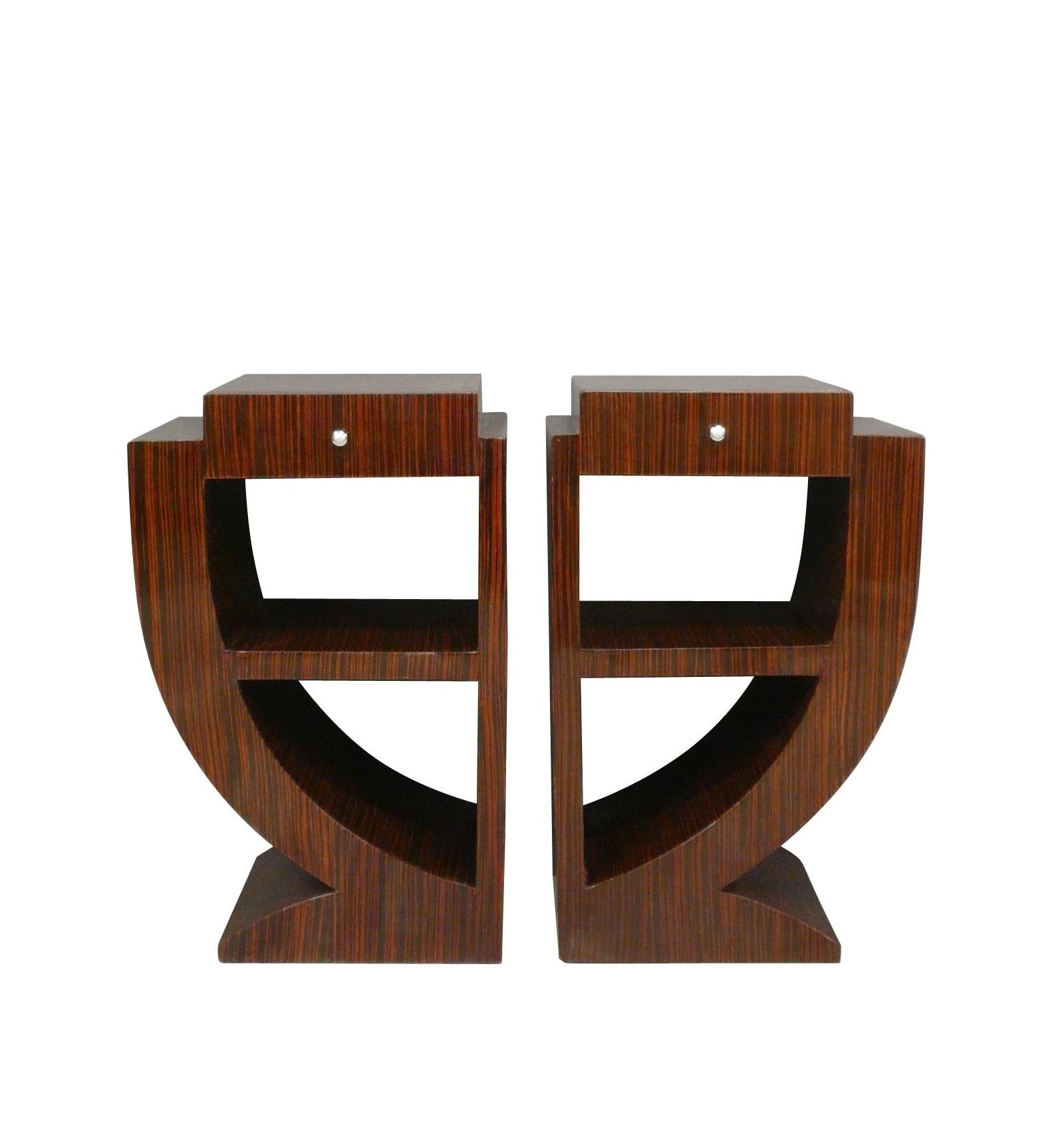Bedsides Deco Art Inlaid Rosewood Furniture Art Deco