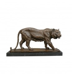 Brons tiger staty