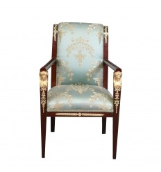 Armchair Empire lined with a satin fabric