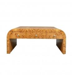 Art Deco coffee table, six drawers