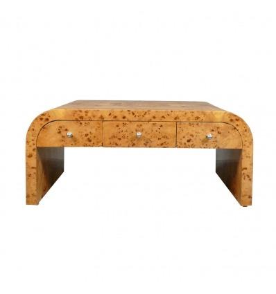 Tabulka nízké ve stylu art deco, šest zásuvek, nábytek ve stylu art deco 1920 -