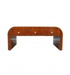 Palissandro di tavolo basso stile art deco con sei cassetti
