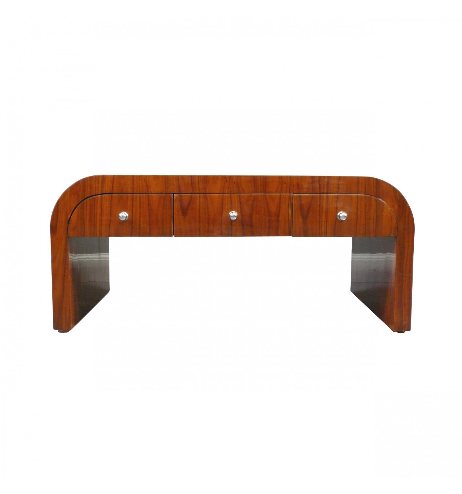 Table basse art d co en palissandre six tiroirs meubles de salon - Table basse art deco occasion ...