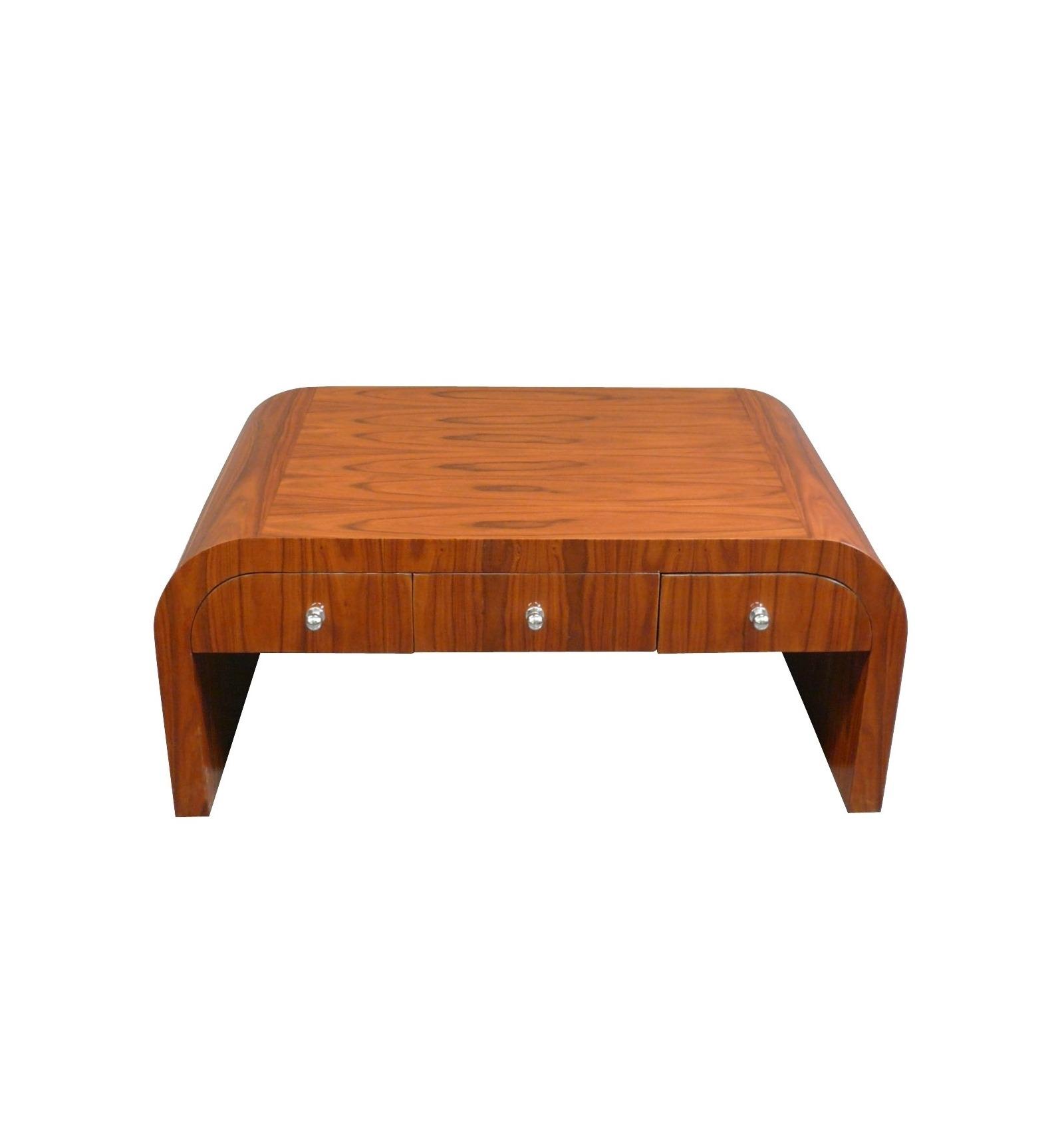 table basse art d co en palissandre six tiroirs meubles de salon. Black Bedroom Furniture Sets. Home Design Ideas