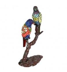Paar Papageien Tiffany-Stil