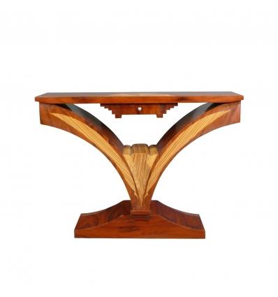 Art deco console. Furniture shop and art deco lamps