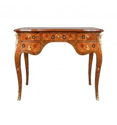 Louis XV Schreibtisch mit Blumen