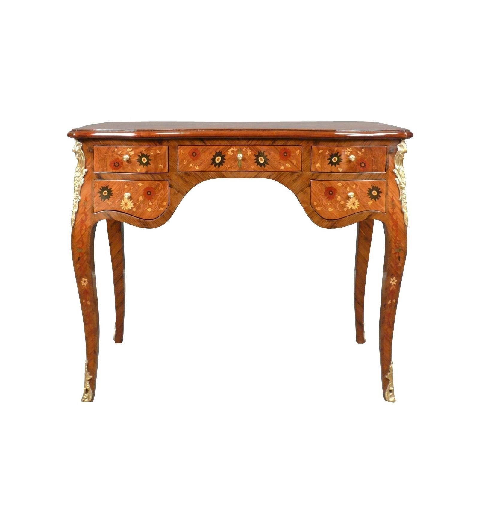 bureau louis xv fleuri buffet commode et meubles de style. Black Bedroom Furniture Sets. Home Design Ideas