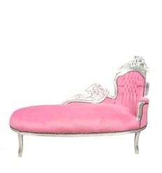 Louis xv armchair pink children tiffany lamps bronze - Chaise baroque rose ...