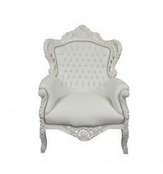 Sillón barroco blanco