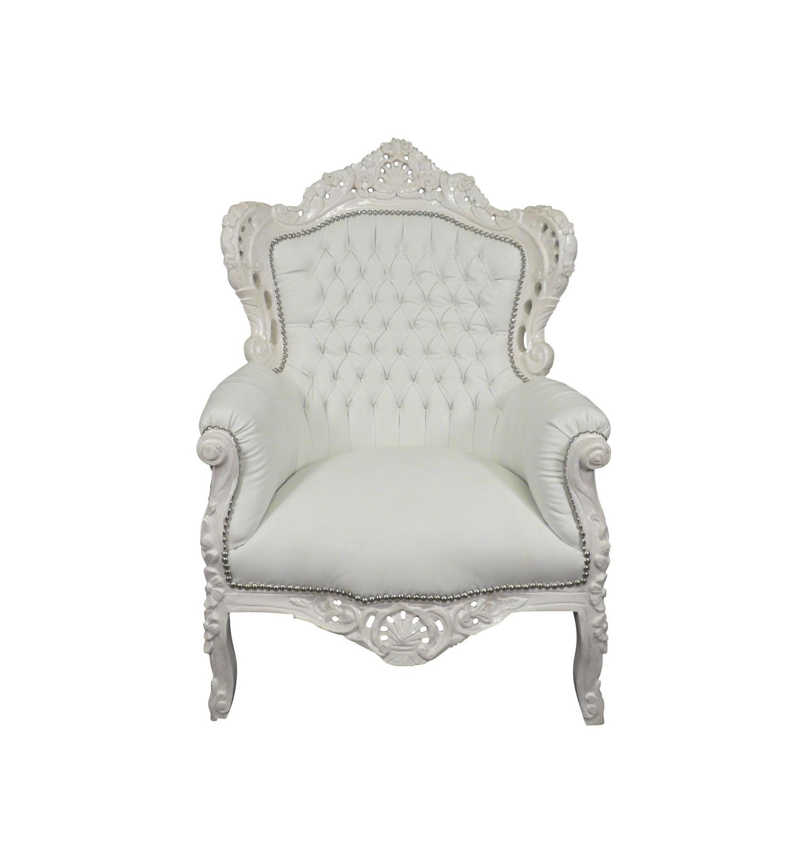 Fauteuil baroque blanc meubles pour une deco moderne et l gante - Meuble baroque blanc ...