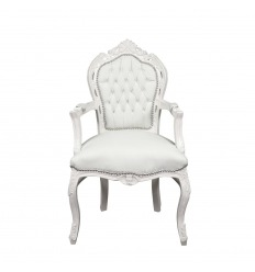 Fauteuil baroque blanc