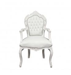White baroque armchair