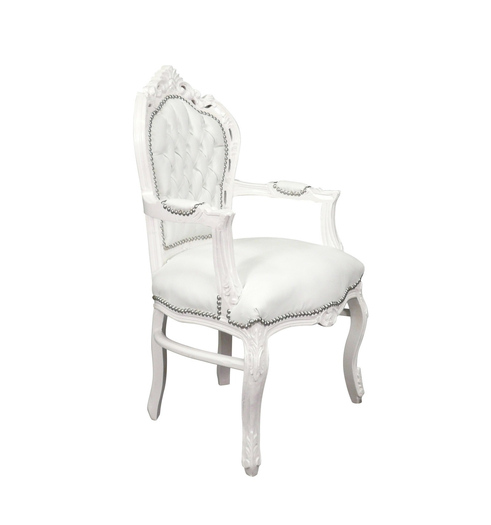 fauteuil baroque blanc et mobilier de style. Black Bedroom Furniture Sets. Home Design Ideas