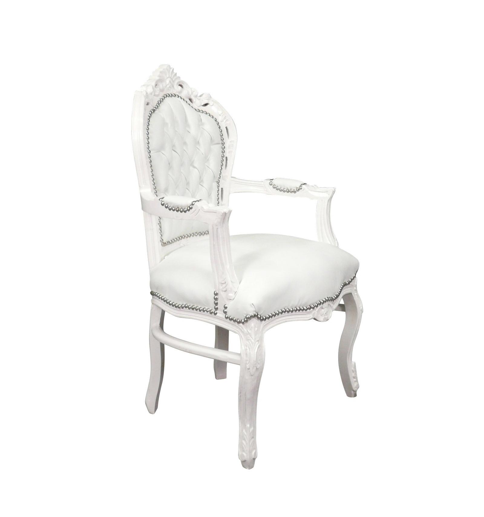 fauteuil baroque blanc mobilier de style. Black Bedroom Furniture Sets. Home Design Ideas