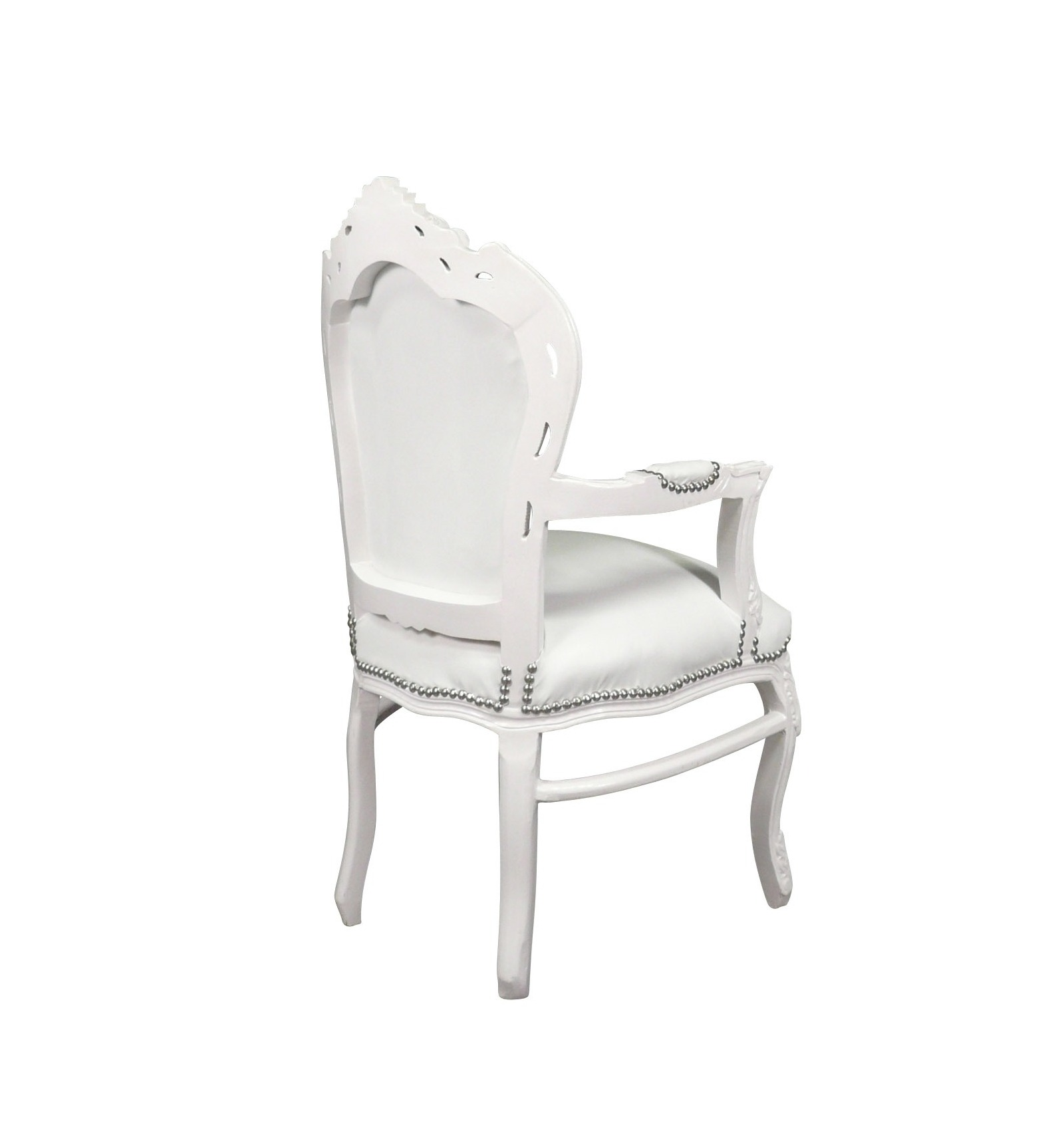 fauteuil baroque blanc mobilier de style. Black Bedroom Furniture Sets. Home Design Ideas