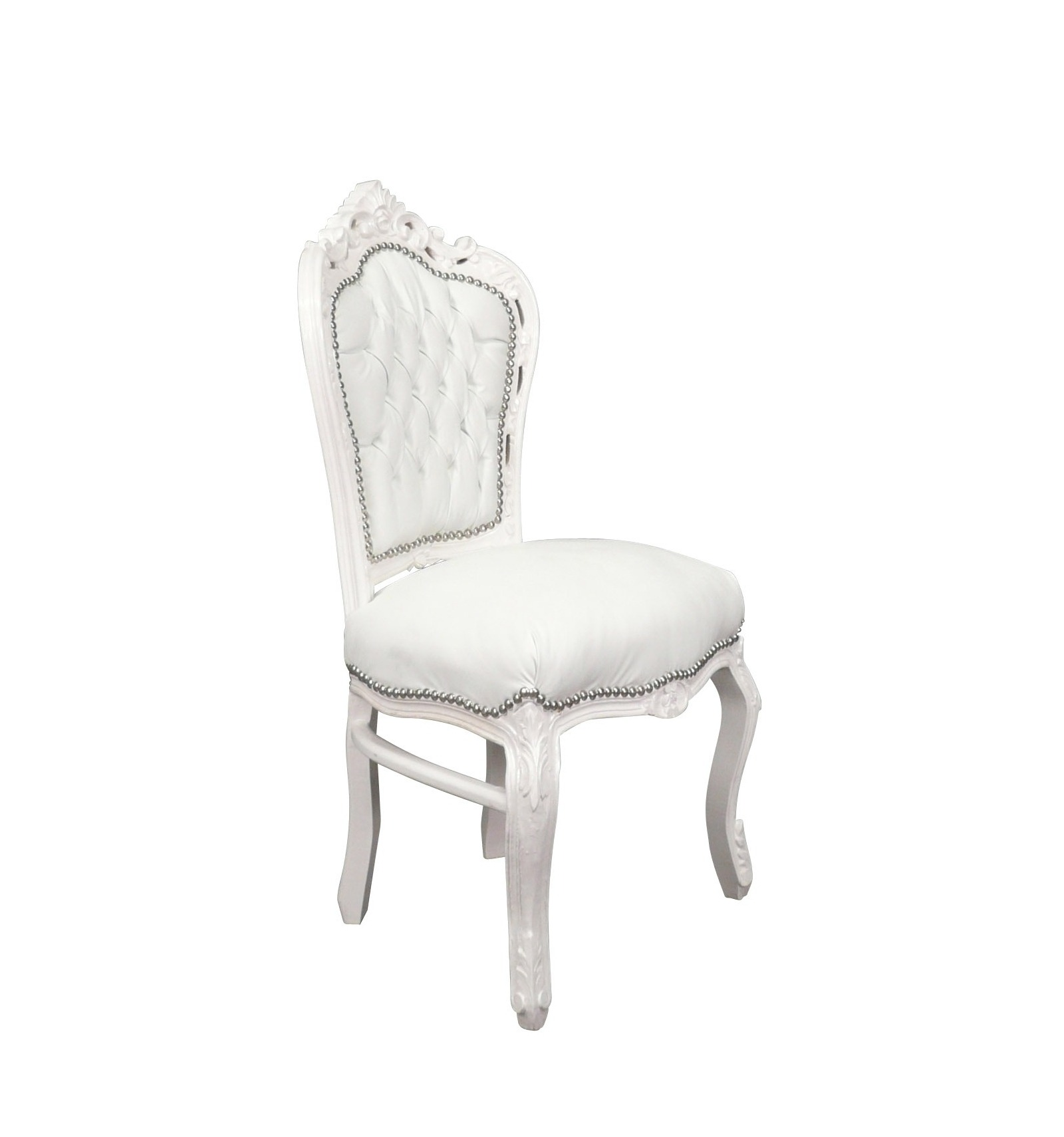 Baroque chair white baroque for Chaise baroque