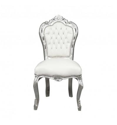 Weißer Barockstuhl - Barockstühle und Stilmöbel im Angebot -
