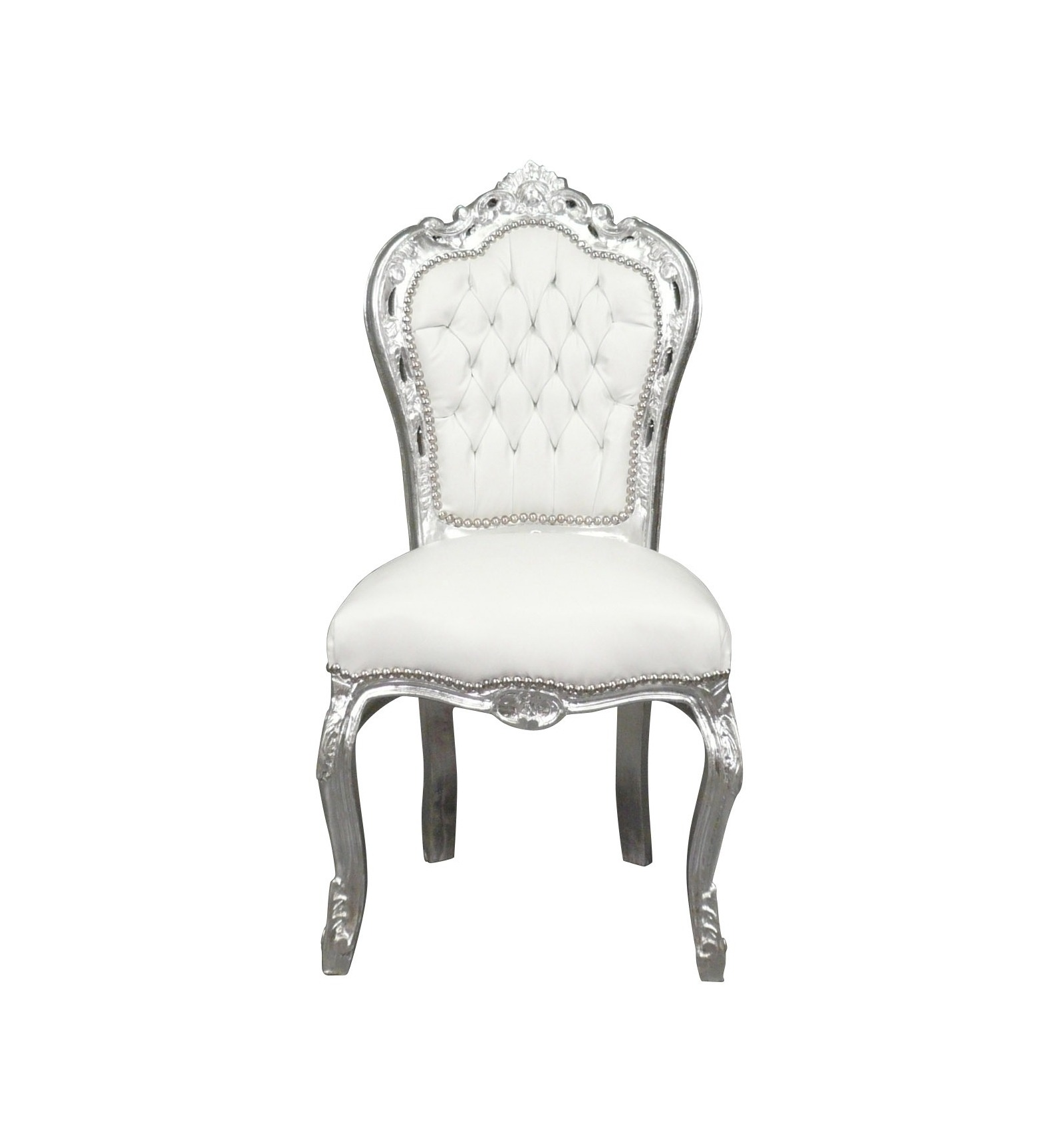 Chair baroque white chairs and baroque style furniture for - Chaise baroque argentee ...