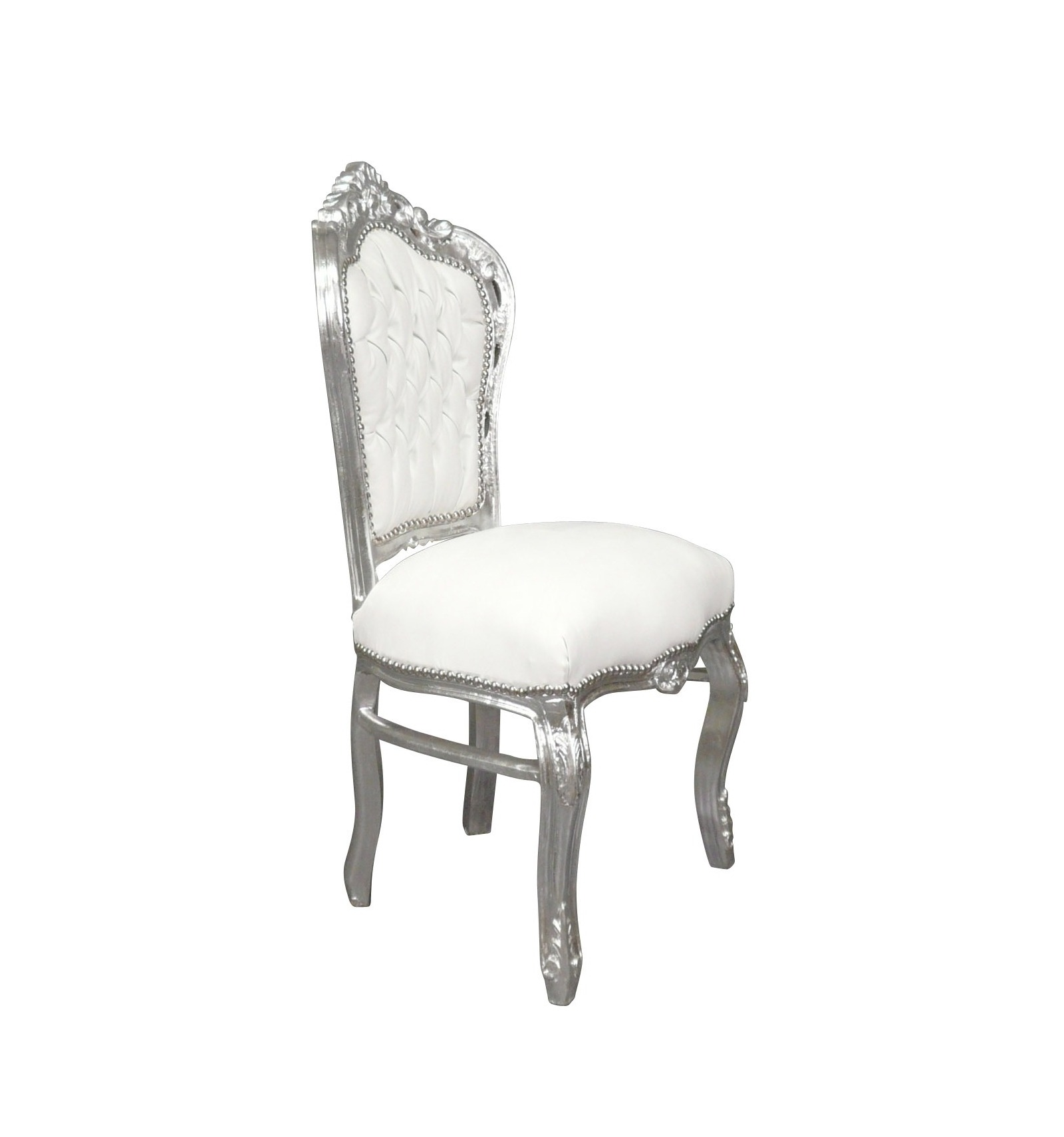 Chair baroque white chairs and baroque style furniture for for Chaise baroque