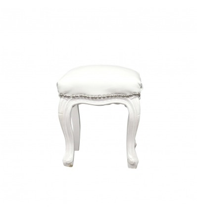 Ottomano barocco-bianco - Poltrone e mobili in stile