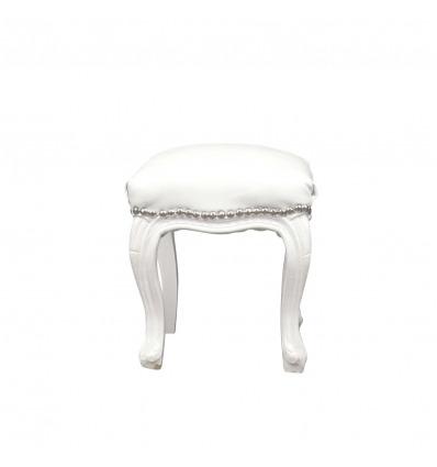 Puf blanco barroco - Sillones y muebles estilo