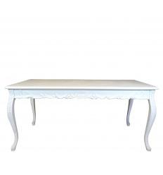 Mesa barroca blanca