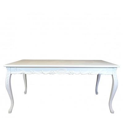 table baroque blanche de salle manger pour 8 personnes. Black Bedroom Furniture Sets. Home Design Ideas