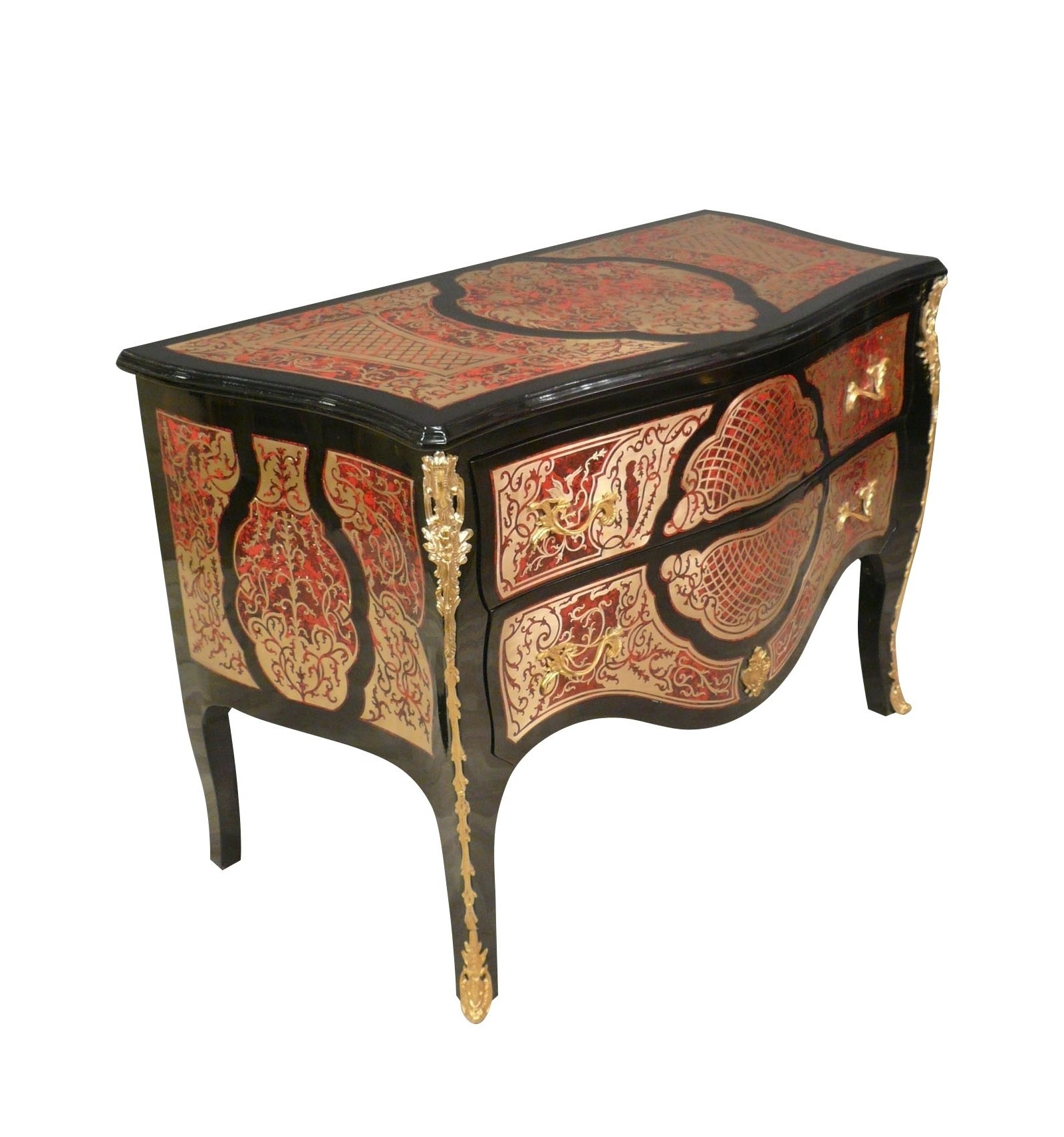 louis xv commode in marquetry boulle style furniture. Black Bedroom Furniture Sets. Home Design Ideas
