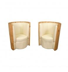Par de sillones de estilo art deco