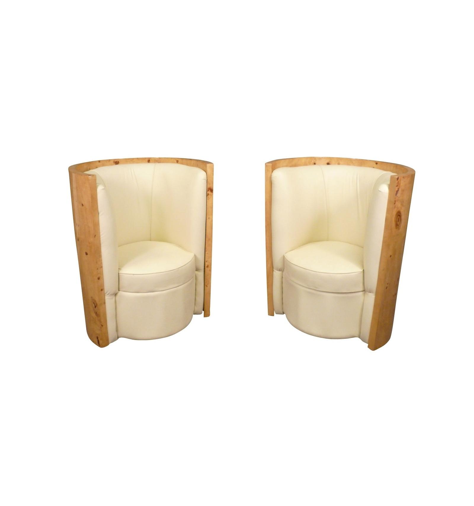 paire de fauteuils art d co. Black Bedroom Furniture Sets. Home Design Ideas