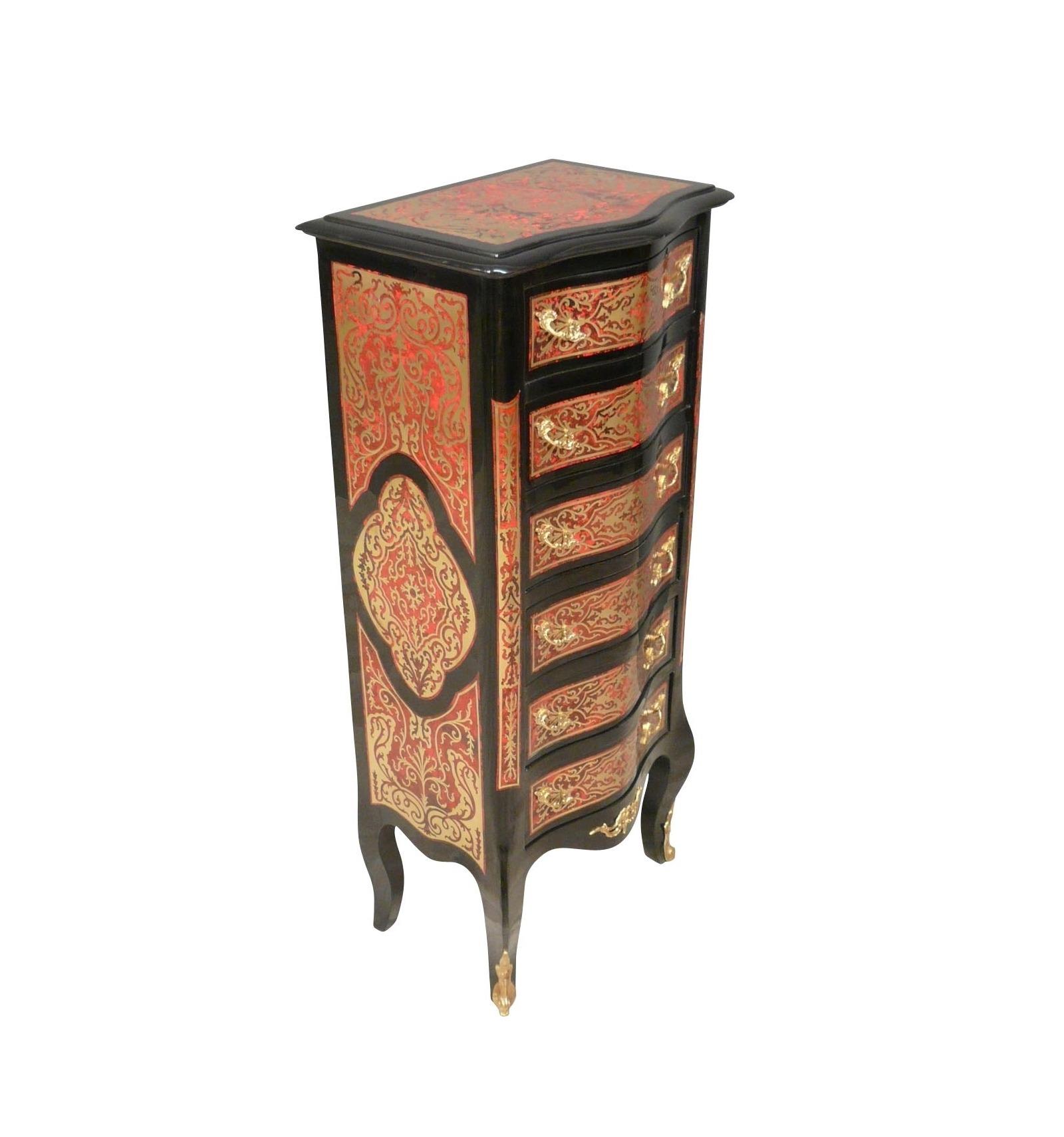 Semainier louis xv style boulle meubles style empire - Meuble style louis 15 ...