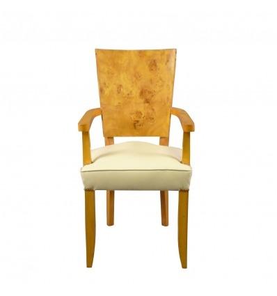 Tuoli Deco suurennuslasin 1920 tyyliin Elm -