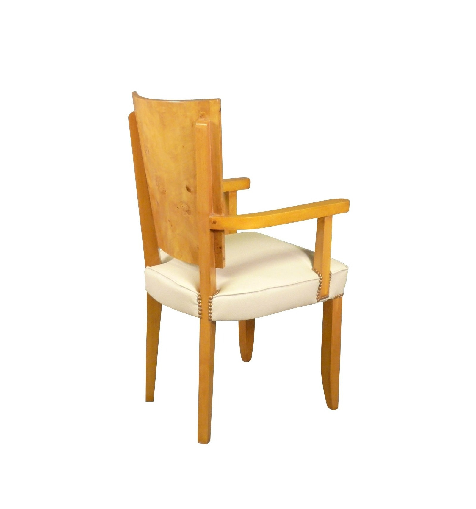 fauteuil art d co en loupe d 39 orme style 1920. Black Bedroom Furniture Sets. Home Design Ideas