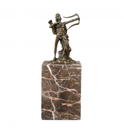 Az íjász - szobrok és bútorok art deco bronz szobor -