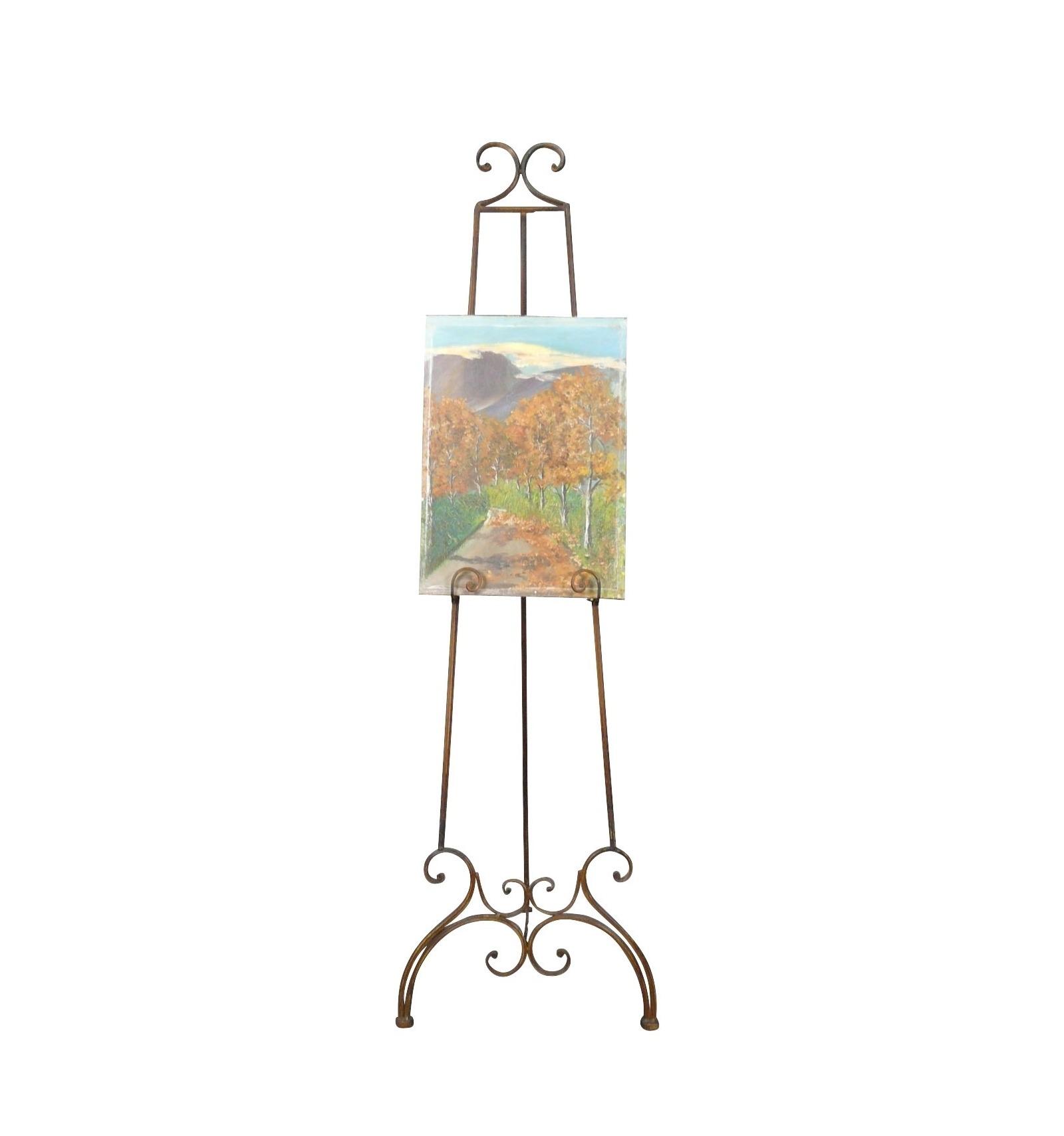 chevalet en fer forg pour peintre peinture et tableau d 39 art. Black Bedroom Furniture Sets. Home Design Ideas