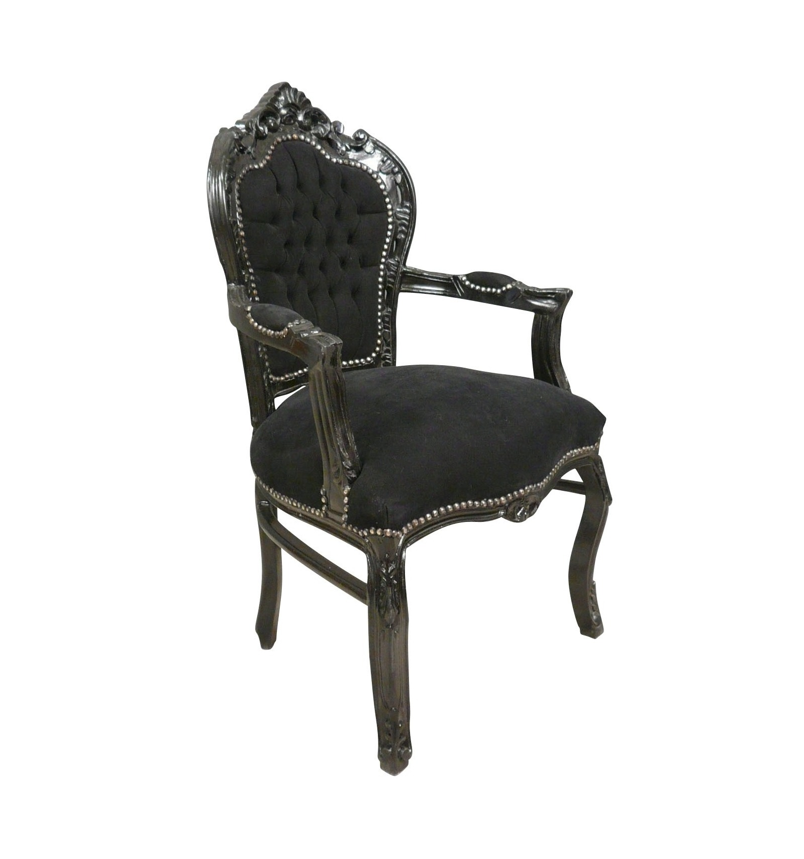 fauteuil baroque noir chaises baroques. Black Bedroom Furniture Sets. Home Design Ideas