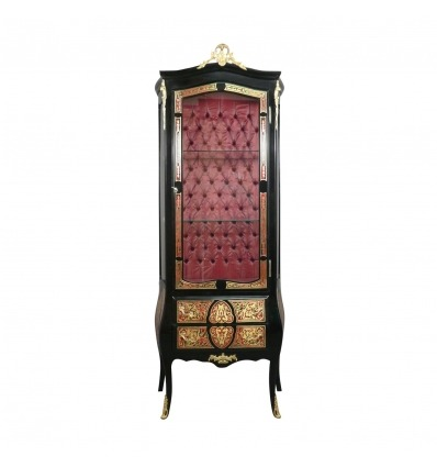 Showcase Louis XV Boulle - Furniture style and art deco -